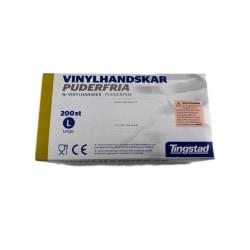 Vinylhandskar puderfria 200st large Tingstad