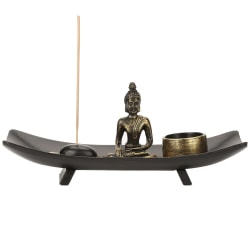 1 set Zen Buddhism Candlestick Incense Holder Furnishing Art