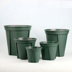 Dark Green Mountain Pot Root Control Plastic Flower Pot Rose EU-12CM