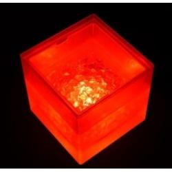 Double Layer Transparent Plastic LED Ice Bucket Square Strai
