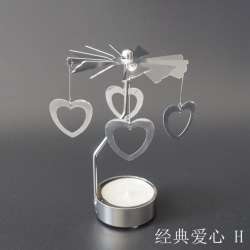 Fashion Rotary Spinning Tealight Candle Metal Tea light Hold