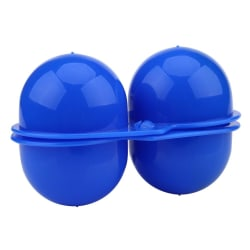 Plastic 2pcs Eggs Carrier Storage Box container For Outdoor  blue