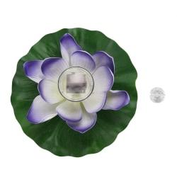 Waterproof Solar Power LED Color Changing Lotus Flower Float 七彩紫色