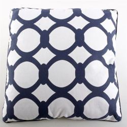 Kudde med fiberfyllning Marinblå/Vit Blå