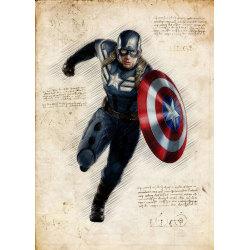 Pergament - Captain America MultiColor