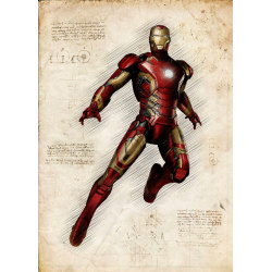 Pergament - Ironman multifärg