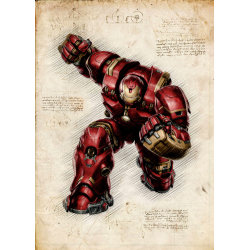 Pergament - Ironman Hulkbuster MultiColor