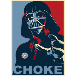 A3 Print - Star Wars - Darth Vader - Choke multifärg