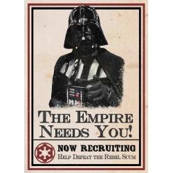 A3 Print - Star Wars - Darth Vader - The Empire Needs You multifärg