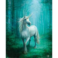 Anne Stokes - Forest Unicorn, Enhörning multifärg