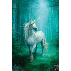 Anne Stokes - Forest Unicorn (Enhörning) multifärg