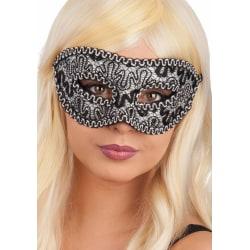Ansiktsmask - Black damask mask  multifärg