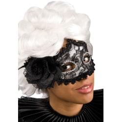 Ansiktsmask - Black lace and feathers mask multifärg