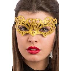 Ansiktsmask - Gold glitter mask multifärg