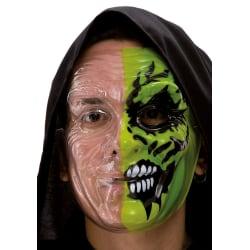 Ansiktsmask - Green half face painting multifärg