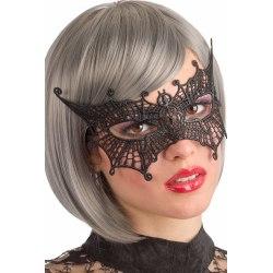 Ansiktsmask - Mask in black Fabric Macrame Bat multifärg