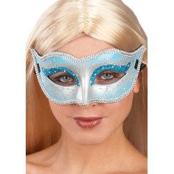 Ansiktsmask - Mask in blue hard PVC with glitter multifärg