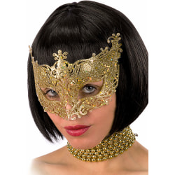 Ansiktsmask - Mask in gold with glitter MultiColor