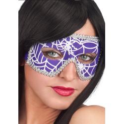 Ansiktsmask - Mask in Purple Spiderweb Fabric multifärg