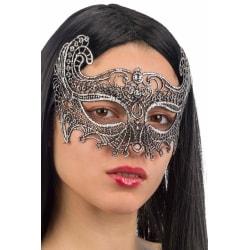 Ansiktsmask - Mask in silver Fabric Macrame MultiColor