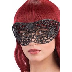 Ansiktsmask - Mask with black glitter  multifärg