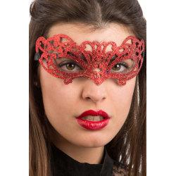 Ansiktsmask - Red glitter mask multifärg