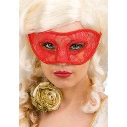 Ansiktsmask - Red lace mask multifärg