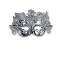 Ansiktsmask - Silver Metallic Hard Pvc Mask MultiColor