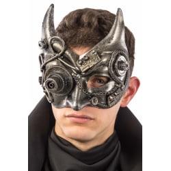 Ansiktsmask - Steampunk silver devil mask multifärg