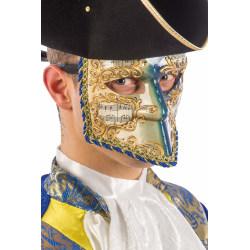Ansiktsmask - White, gold and blue Venetian bautta mask multifärg