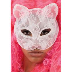 Ansiktsmask - Wite cat lace mask multifärg