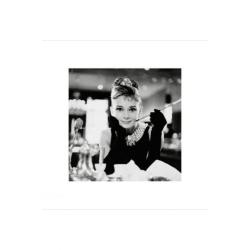 Audrey Hepburn - B&W Breakfast at Tiffanys multifärg