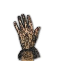 Black Lace Gloves 24 cm MultiColor