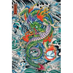 Ed Hardy Poster Dragon multifärg