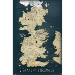 Game of Thrones - Map of Westeros and Essos multifärg