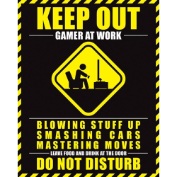 Gamer At Work - Do Not Disturb multifärg
