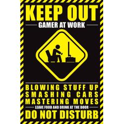Gamer At Work - Keep out multifärg