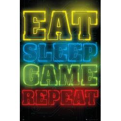 Gaming - Eat Sleep Game Repeat multifärg