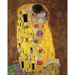 Gustav Klimt -Kyssen, The Kiss, Der Kuss multifärg