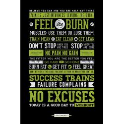 Gym Motivational - Träningsposter multifärg