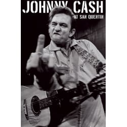 Johnny Cash - FUCK, San Quentin multifärg