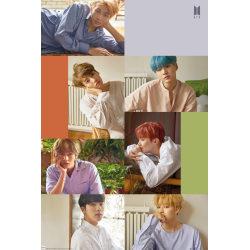 K-POP - BTS Group Collage multifärg
