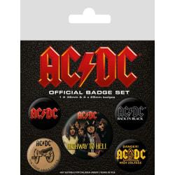 Knappsats - Badge Pack - AC/DC (Logo) multifärg