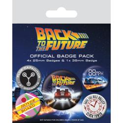 Knappsats - Badge Pack - Back To The Future (Delorean) multifärg
