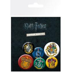 Knappsats - Badge Pack - Harry Potter - Crests multifärg