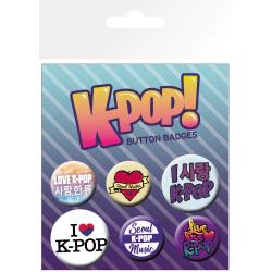Knappsats - Badge Pack - K-POP  Mix MultiColor