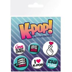 Knappsats - Badge Pack - K-POP  Quotes multifärg