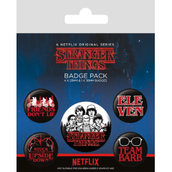 Knappsats - Badge Pack - Stranger Things (Characters) MultiColor