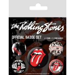 Knappsats - Badge Pack - The Rolling Stones (Classic) MultiColor