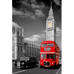 London - Big Ben Bus and Taxi multifärg